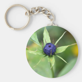 Herb paris (Paris quadrifolia) Keychain