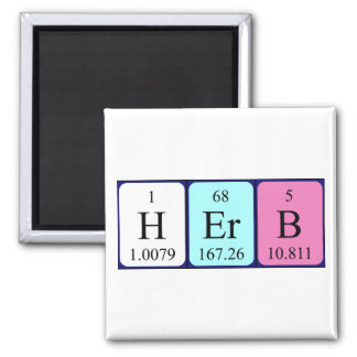 Herb periodic table name magnet