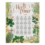 Herb Primer poster print