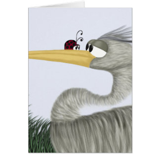 Herb The Heron And His Visitor Card