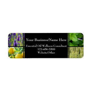 Herbal Essential Oil Business Bottle Contact Label