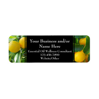 Herbal Essential Oil Business Bottle Contact Lemon Label