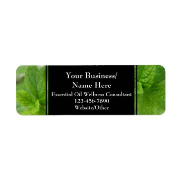 Professional Business Herbal Essential Oil Business Bottle Contact Mint Label