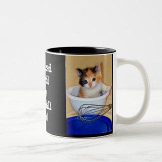 """Herbal"" NOT ""Fur Ball"" Two-Tone Coffee Mug"