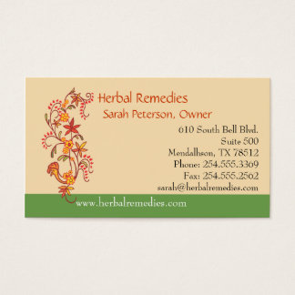 Herbal Remedies Business Card