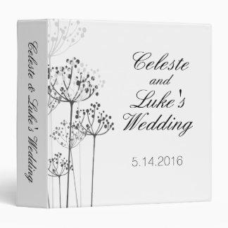 Herbal Rhapsody Wedding 3 Ring Binders