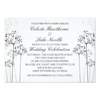 Herbal Rhapsody Wedding Collection 5x7 Paper Invitation Card