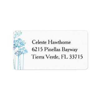 Herbal Rhapsody Wedding Address Label