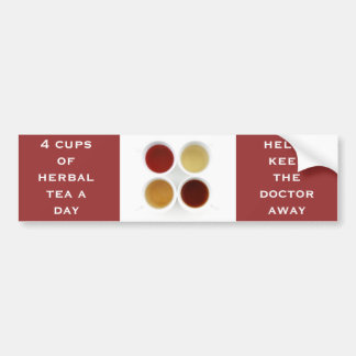 herbal tea bumper sticker