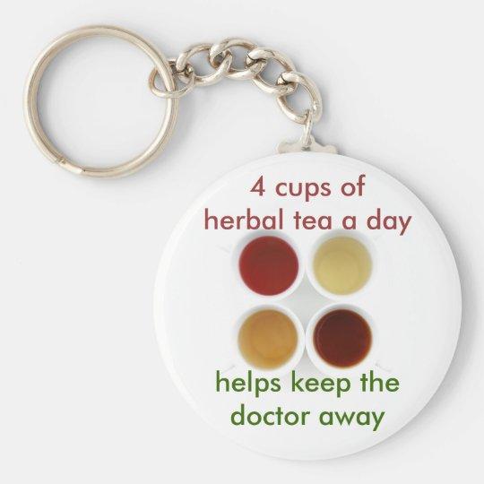herbal tea keychain