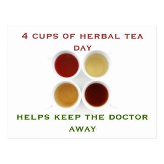 herbal tea mug postcard