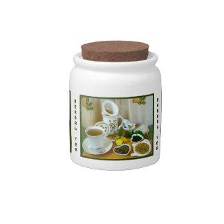 Herbal Teatime ~ Herb Tea Jar # 2 Candy Jar