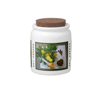 Herbal Teatime ~ Herb Tea Jar # 3 Candy Jars