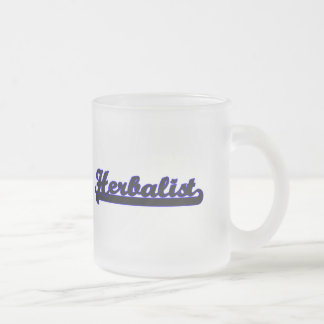 Herbalist Classic Job Design 10 Oz Frosted Glass Coffee Mug