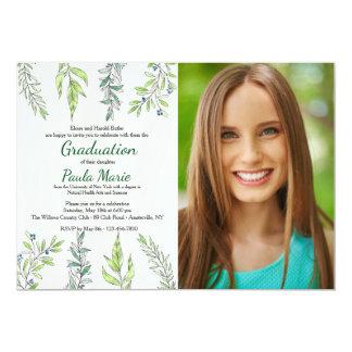 Herbalist Photo Graduation Invitation