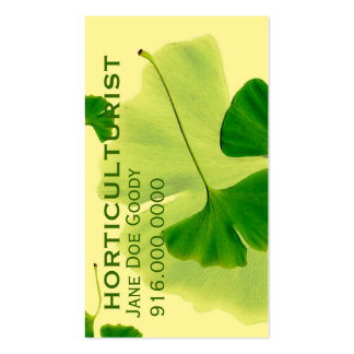 Herbalist que cultiva un huerto tarjetas de visita