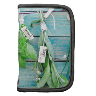 herbals on vintage turquoise painted wood wall organizers