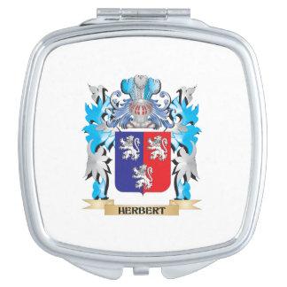 Herbert Coat of Arms - Family Crest Travel Mirror