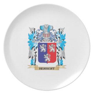 Herbert Coat of Arms - Family Crest Dinner Plate