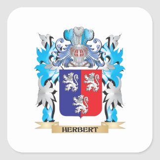 Herbert Coat of Arms - Family Crest Square Sticker
