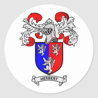HERBERT Coat of Arms Round Sticker