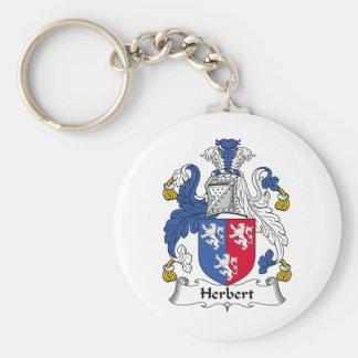 Herbert Family Crest Key Chain