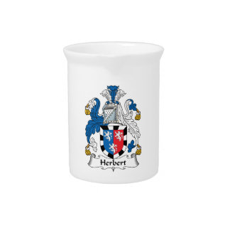 Herbert Family Crest Beverage Pitchers