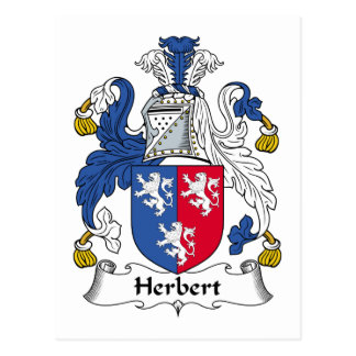 Herbert Family Crest Post Card