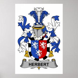 Herbert Family Crest Poster