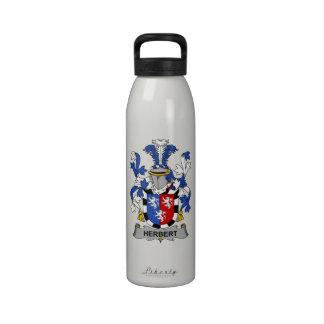 Herbert Family Crest Water Bottles