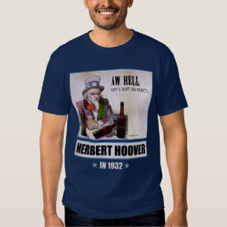 Herbert Hoover 1932 Campaign Men's Dark T-shirt