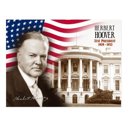 Herbert hoover 31st president of the u s postcard zazzle - Gevels herbergt fotos ...