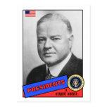 Herbert Hoover Baseball Card Postcard