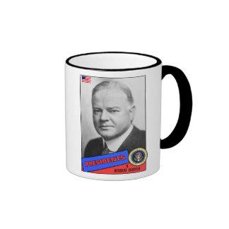 Herbert Hoover Baseball Card Ringer Mug