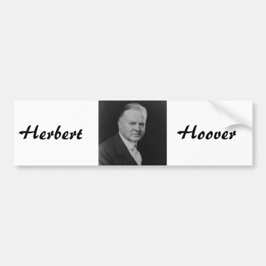 Herbert Hoover Bumper Sticker