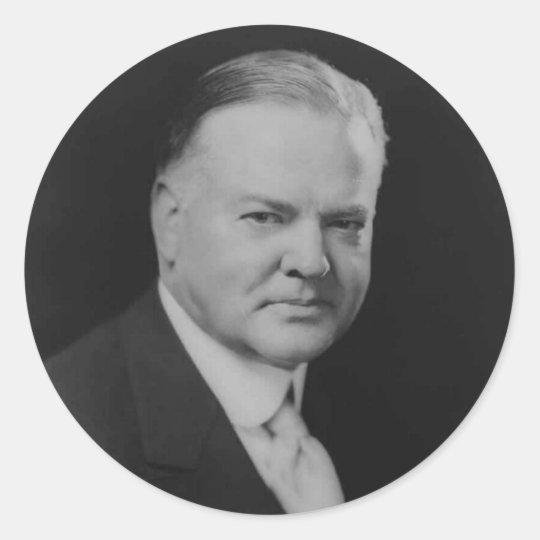Herbert Hoover Classic Round Sticker