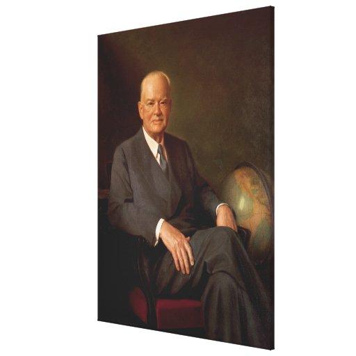 HERBERT HOOVER Portrait by Elmer Wesley Greene Canvas Prints