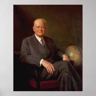 HERBERT HOOVER Portrait by Elmer Wesley Greene Poster