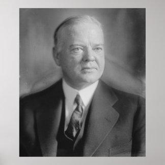 HERBERT HOOVER Portrait by Harris & Ewing Print