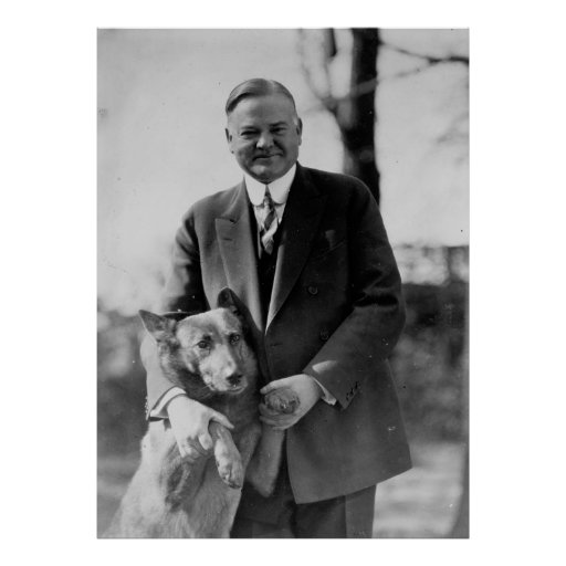 HERBERT HOOVER y su perro de Herberto E. french Posters