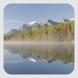 Herbert Lake at Icefields Parkway Alberta Canada Square Stickers