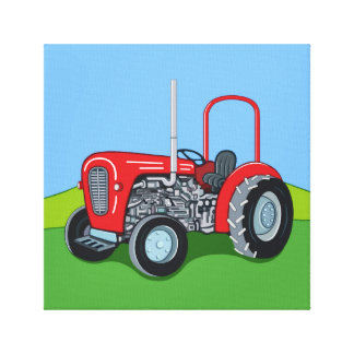 Herbert the Tractor Canvas Print