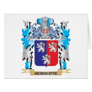 Herberte Coat of Arms - Family Crest Cards
