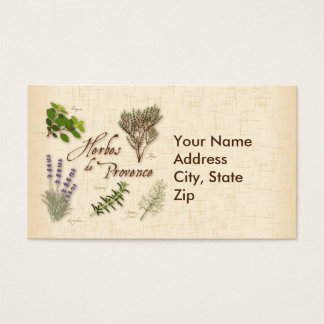 Herbes de Provence, Recipe, Lavender, Thyme, Business Card