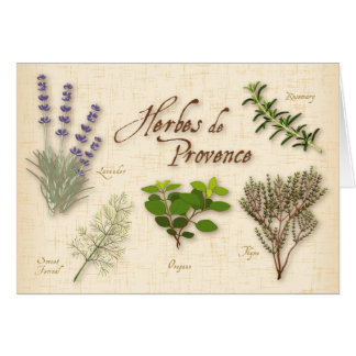 Herbes de Provence, Recipe, Lavender, Thyme, Greeting Card
