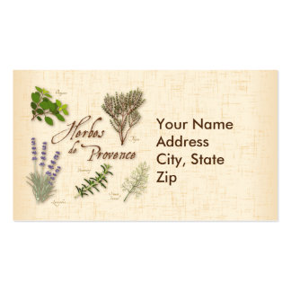 Herbes de Provence, Recipe, Lavender, Thyme, Double-Sided Standard Business Cards (Pack Of 100)