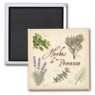 Herbes de Provence, Recipe, Lavender, Thyme, 2 Inch Square Magnet