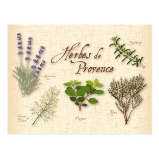 Herbes de Provence, Recipe, Lavender, Thyme, Postcard