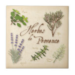 Herbes de Provence, Recipe, Lavender, Thyme, Small Square Tile