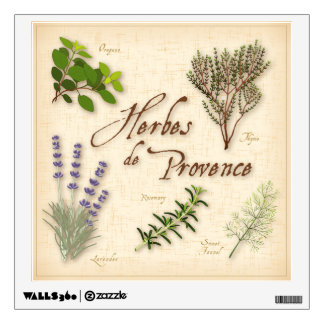 Herbes de Provence, Recipe, Lavender, Thyme, Room Decals